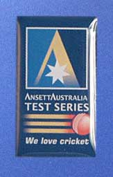 LAPEL BADGE - TEST CRICKET SERIES 2000-01